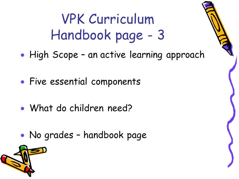 VPK Curriculum Handbook page - 3