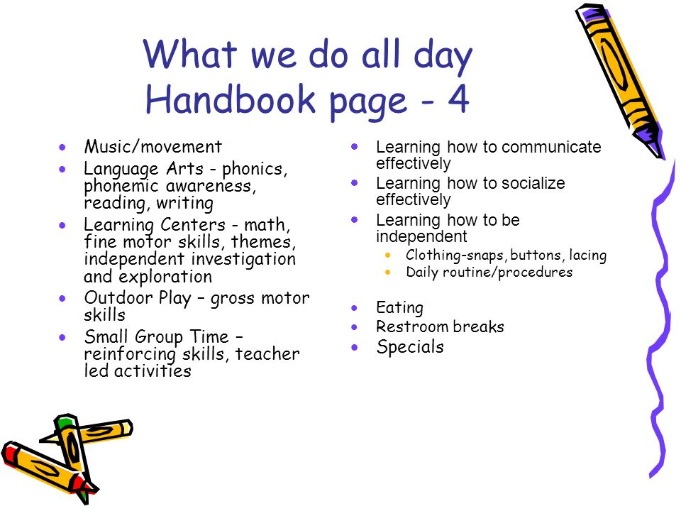 What we do all day Handbook page - 4