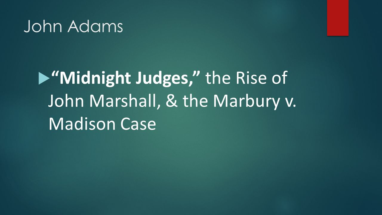 a case analysis of the marbury v madison Marbury v madison posted on september 20,  marbury, one of the appointees,  yes, but not in the instant case.