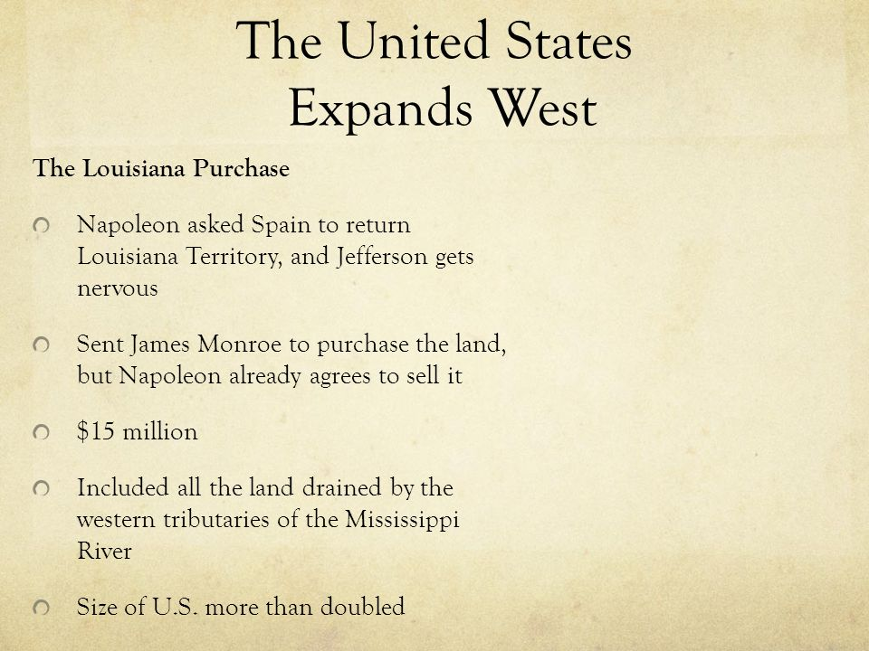 The United States Expands West