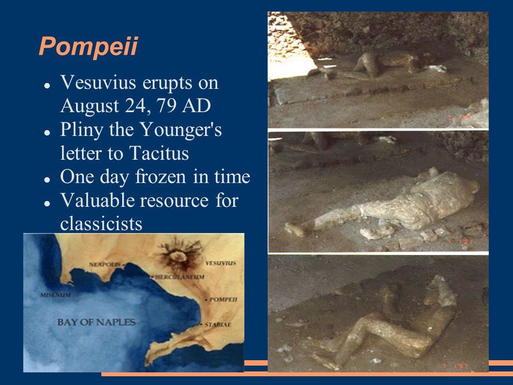 Pompeii Vesuvius Erupts On August 24 79 AD