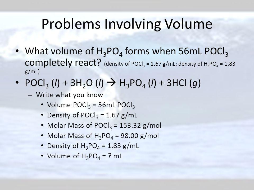 Problems Involving Volume
