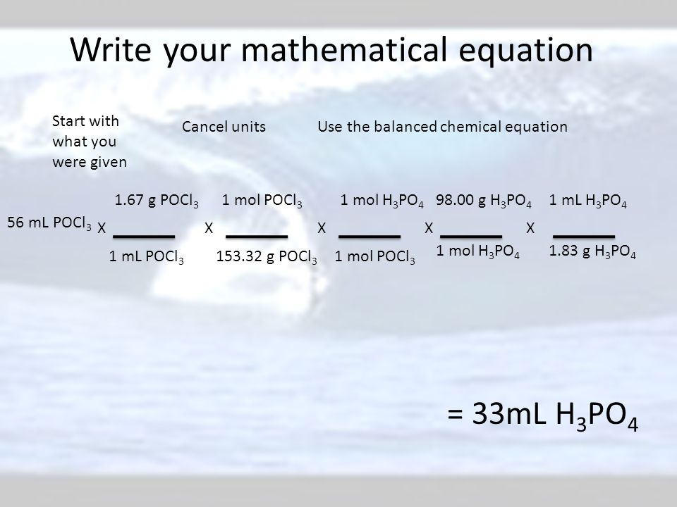 Write your mathematical equation