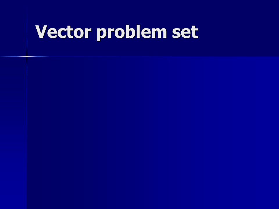 Vector problem set