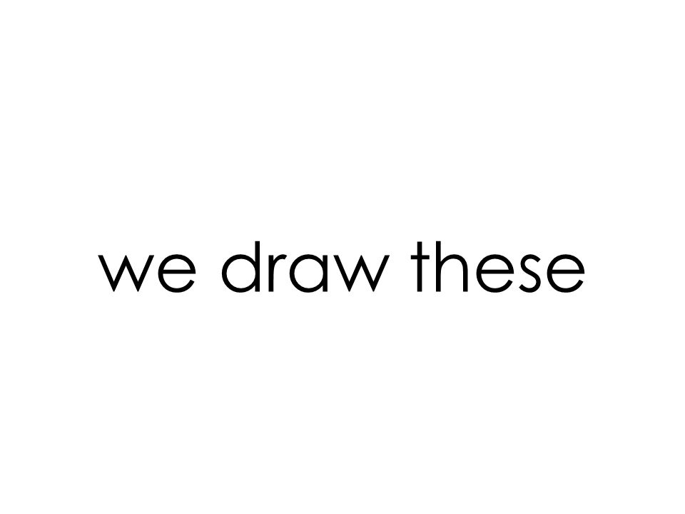 we draw these