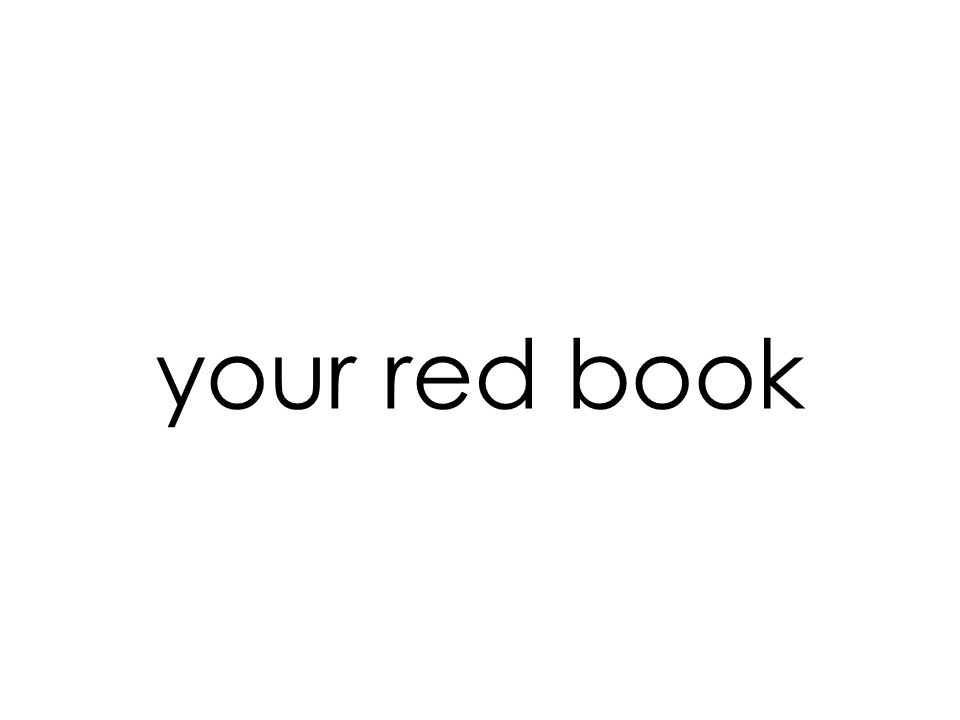 your red book