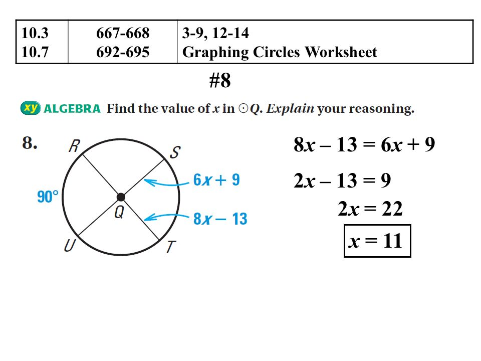 103 Apply Properties of Chords ppt download – Graphing Circles Worksheet