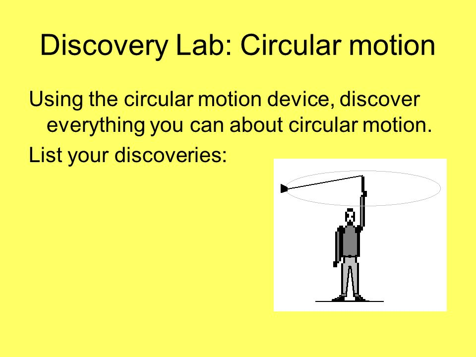 Discovery Lab: Circular motion