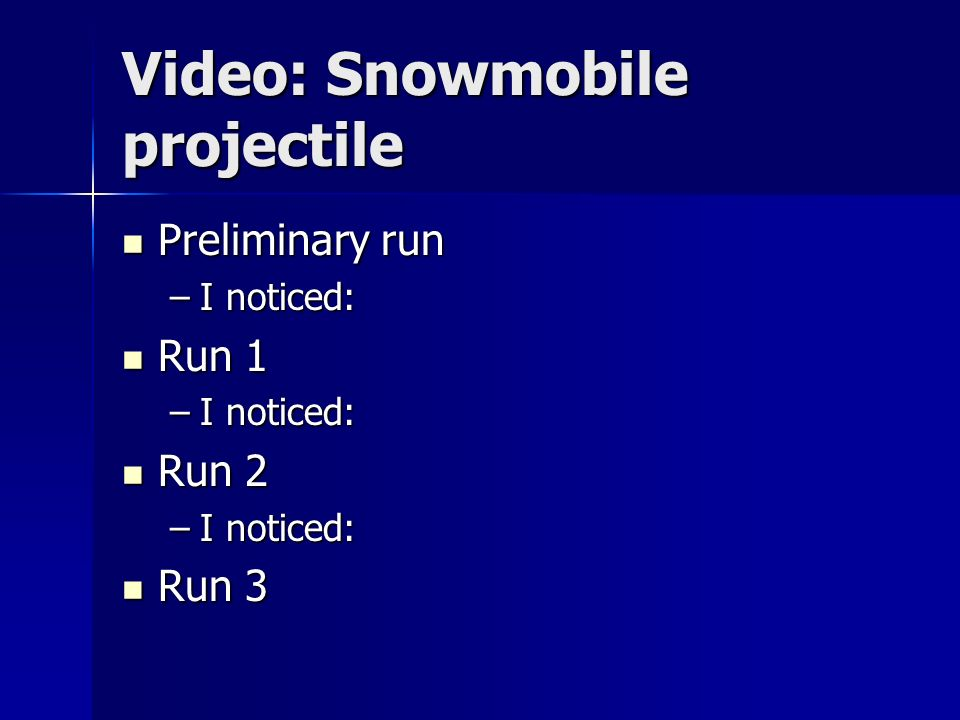 Video: Snowmobile projectile