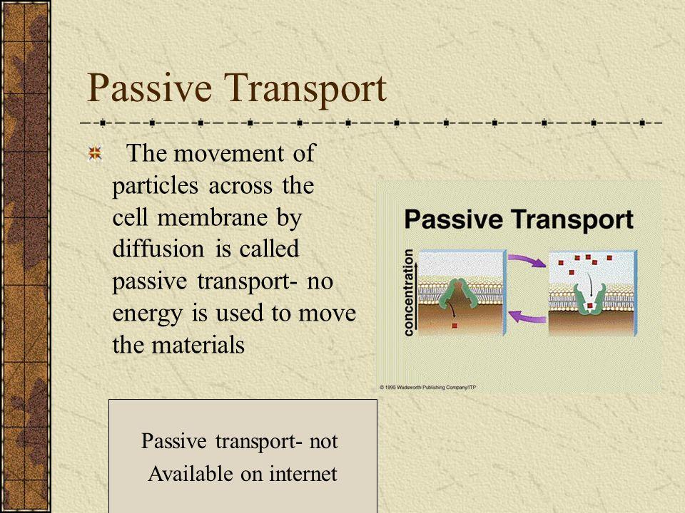 Passive transport- not