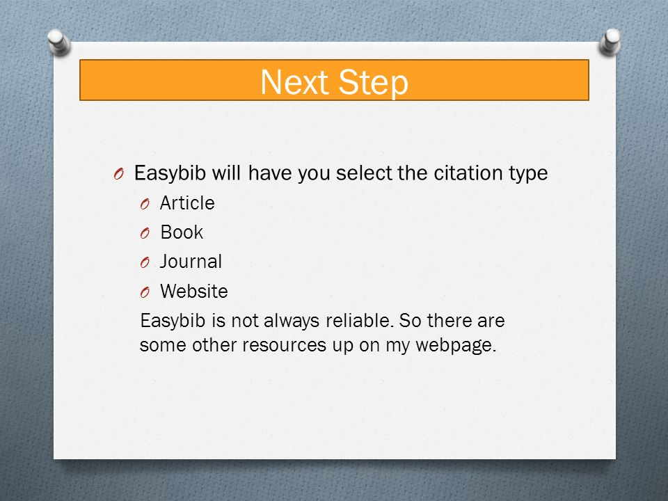 Complete Guide to MLA   by easyBib How to Cite an Article