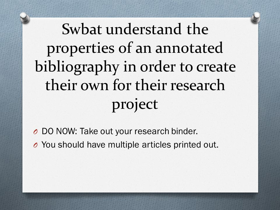 do essays have bibliography The annotated bibliography remember that academic essays often need significant and appropriate support via research that will be documented in a works cited page.