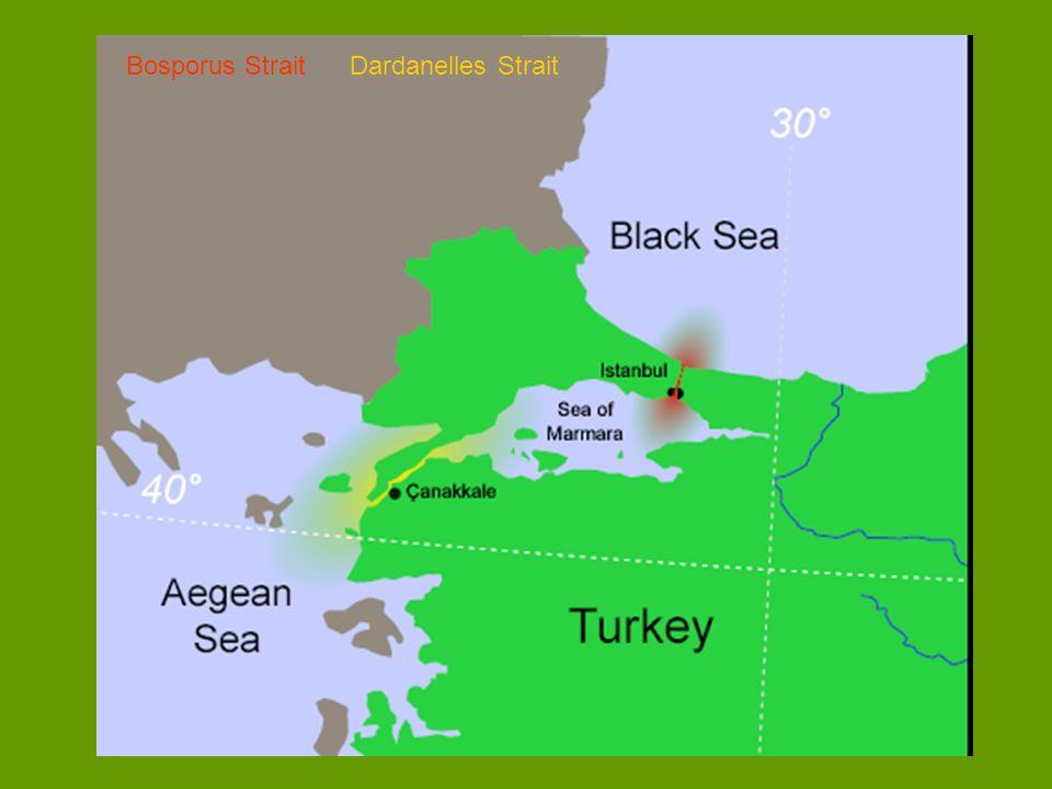 Bosporus Strait Dardanelles Strait