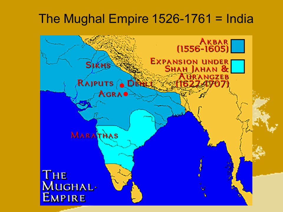 The Mughal Empire 1526-1761 = India