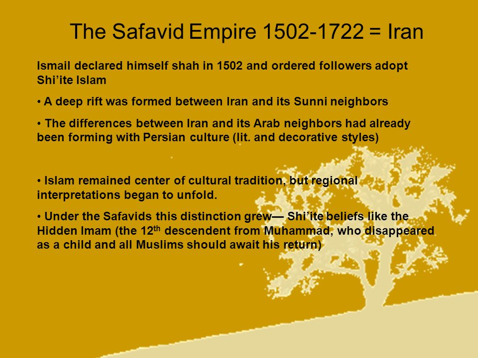 The Safavid Empire 1502-1722 = Iran