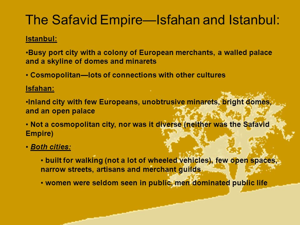 The Safavid Empire—Isfahan and Istanbul: