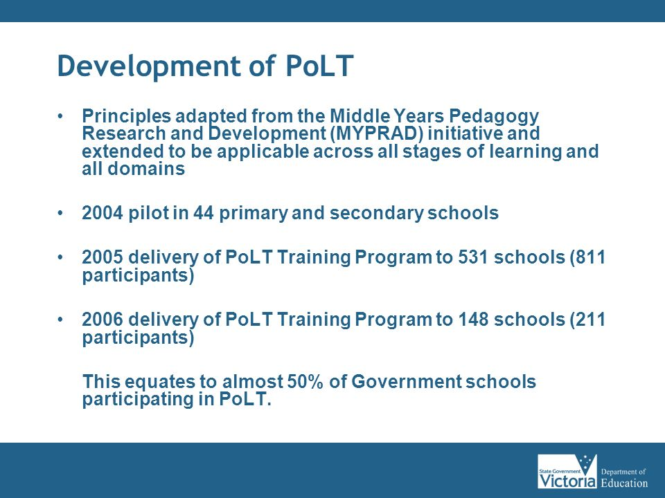 Development of PoLT