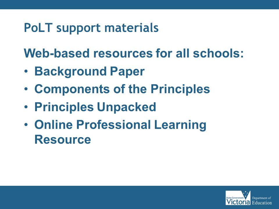 PoLT support materials