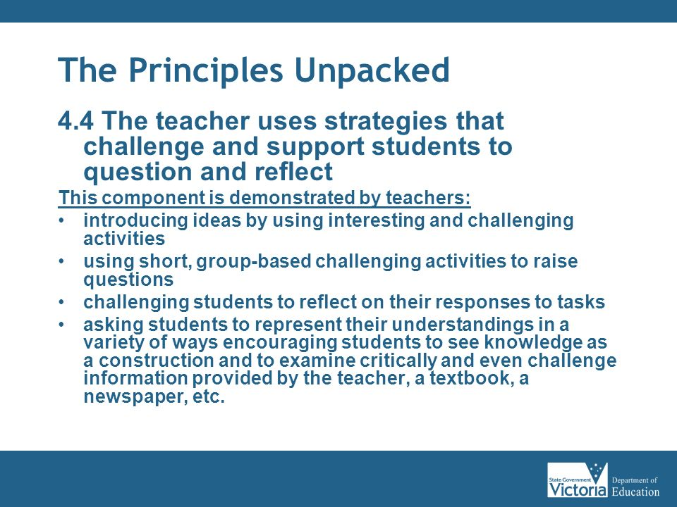 The Principles Unpacked