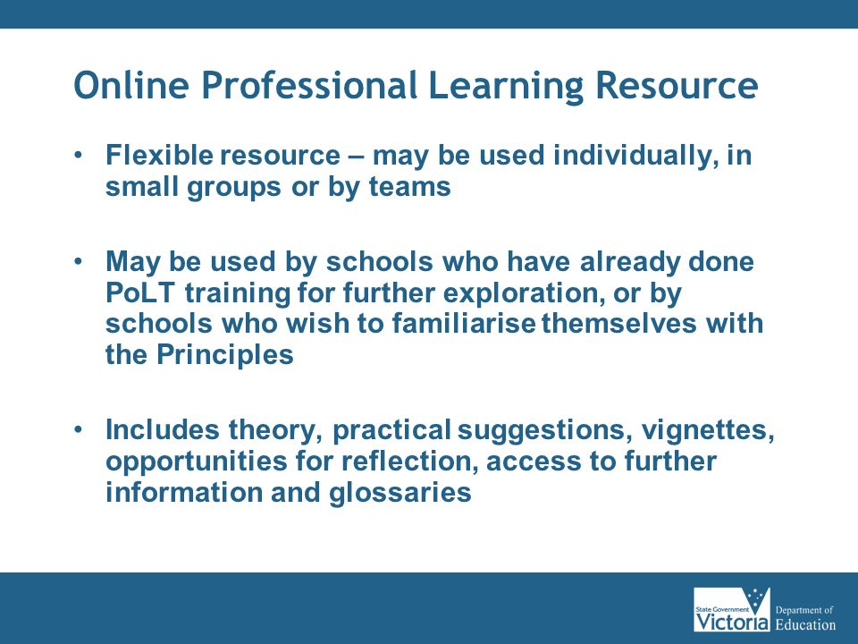 Online Professional Learning Resource
