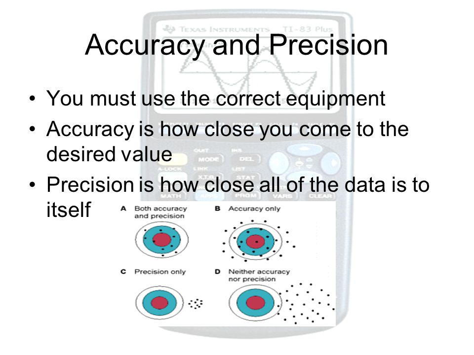 Measurements and Calculations ppt download – Accuracy Vs Precision Worksheet
