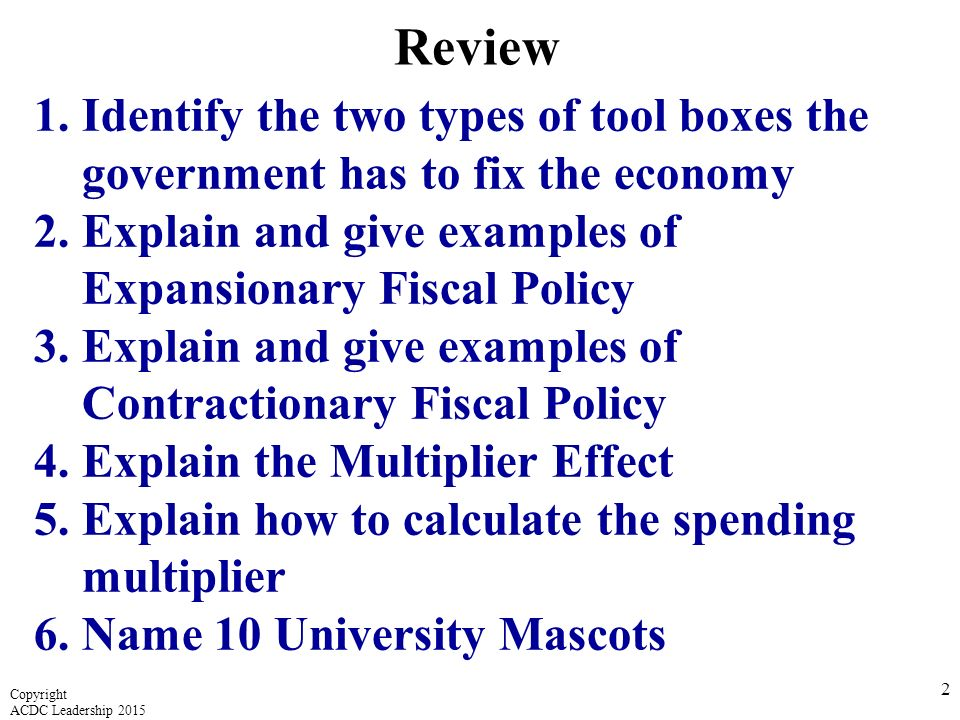 fiscal policy 3 essay