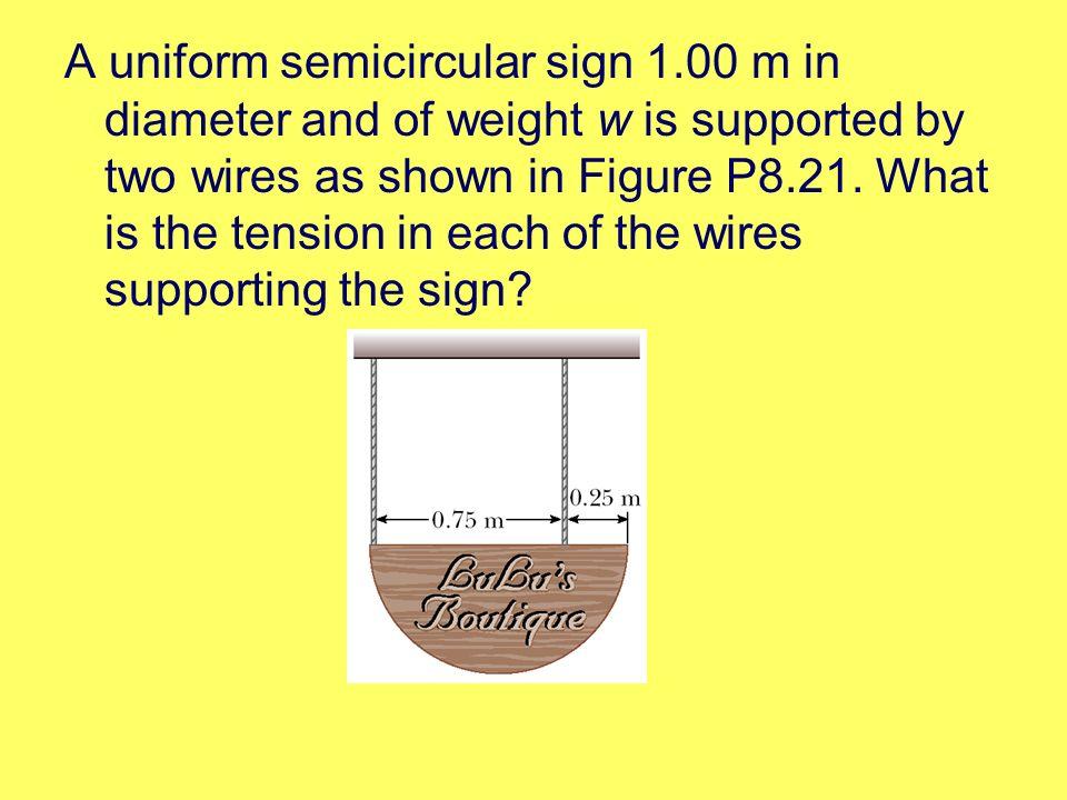 A uniform semicircular sign 1
