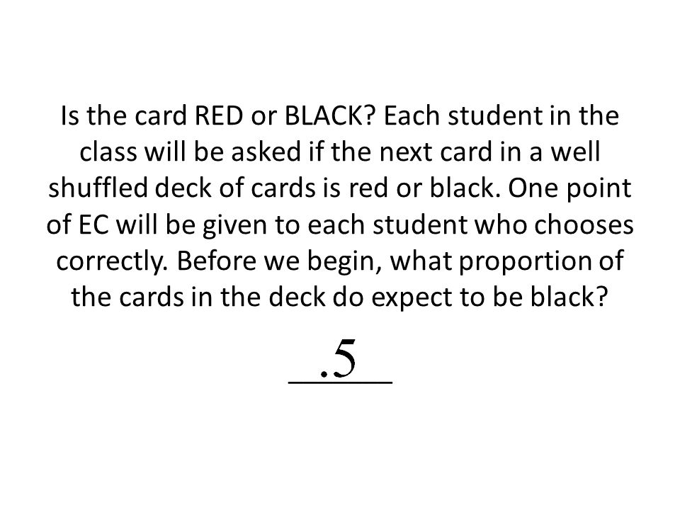 Is the card RED or BLACK.