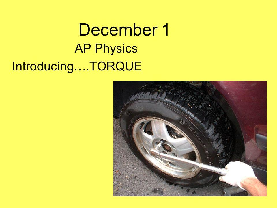 AP Physics Introducing….TORQUE