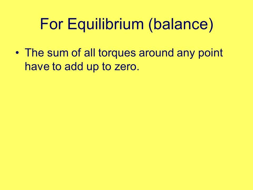 For Equilibrium (balance)