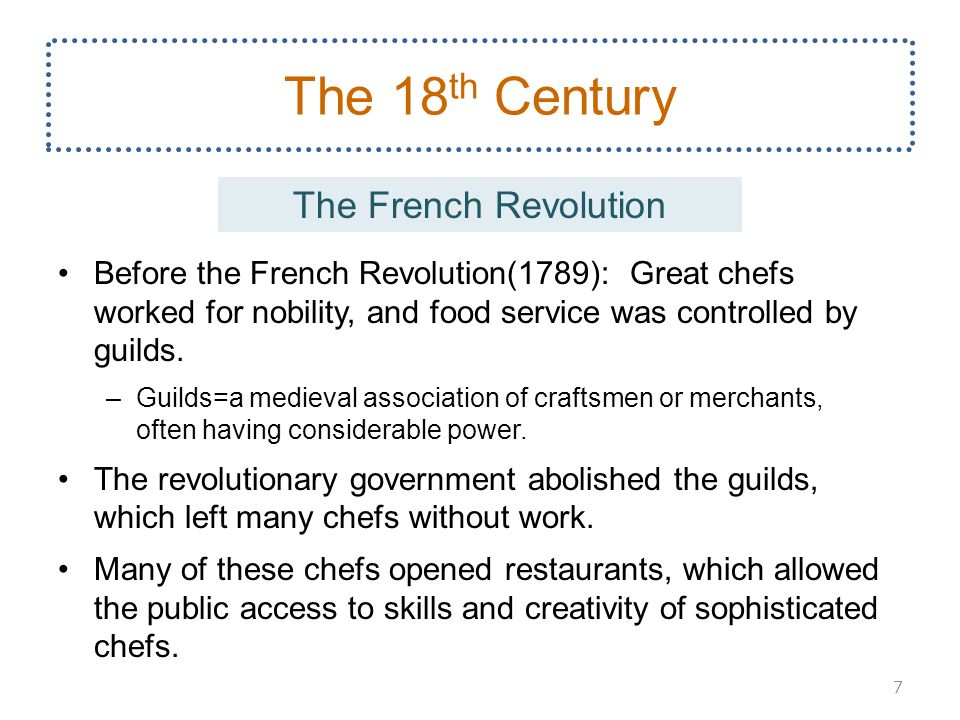 The food service industry ppt download for 18th century french cuisine