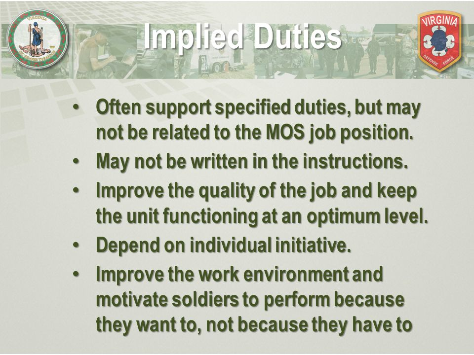 Duties, Responsibilities and Authority of the NCO - ppt download