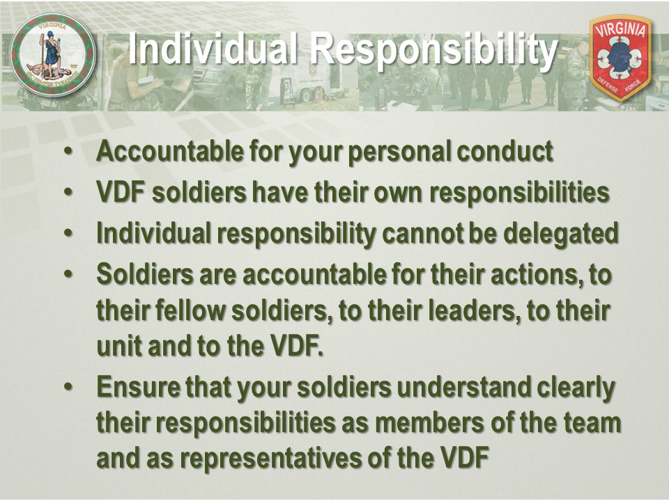 duties responsibilities and authority of the nco ppt