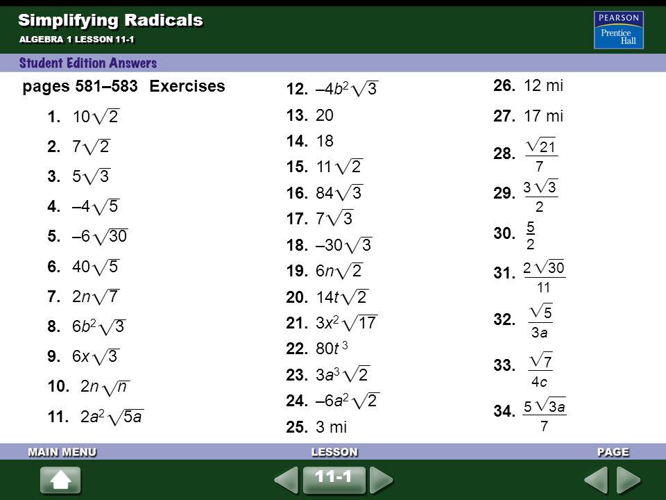 Simplifying Radicals Worksheet Page 94 Stay At Hand. Simplifying Radicals Worksheet Page 94 Kidz Activities. Worksheet. Simplifying Radicals Activity Worksheet At Clickcart.co