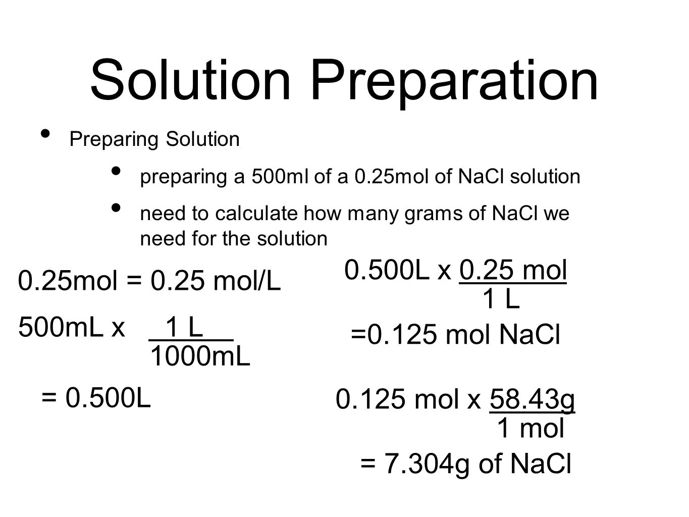 Solution Preparation and Dilutions PowerPoint Presentation, PPT - DocSlides