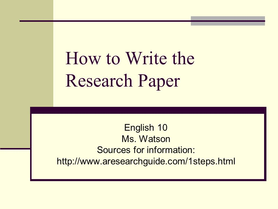make a research paper online