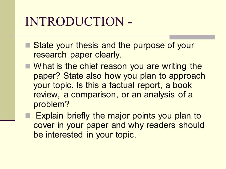how to write introduction research paper Keep in mind that the goal is not to create a shortened version of your paper instead, the introduction should briefly introduce your topic before declaring the particular point you want to make about it create a focused thesis statement an effective introduction to a research paper needs to have a clear and tightly focused thesis statement.
