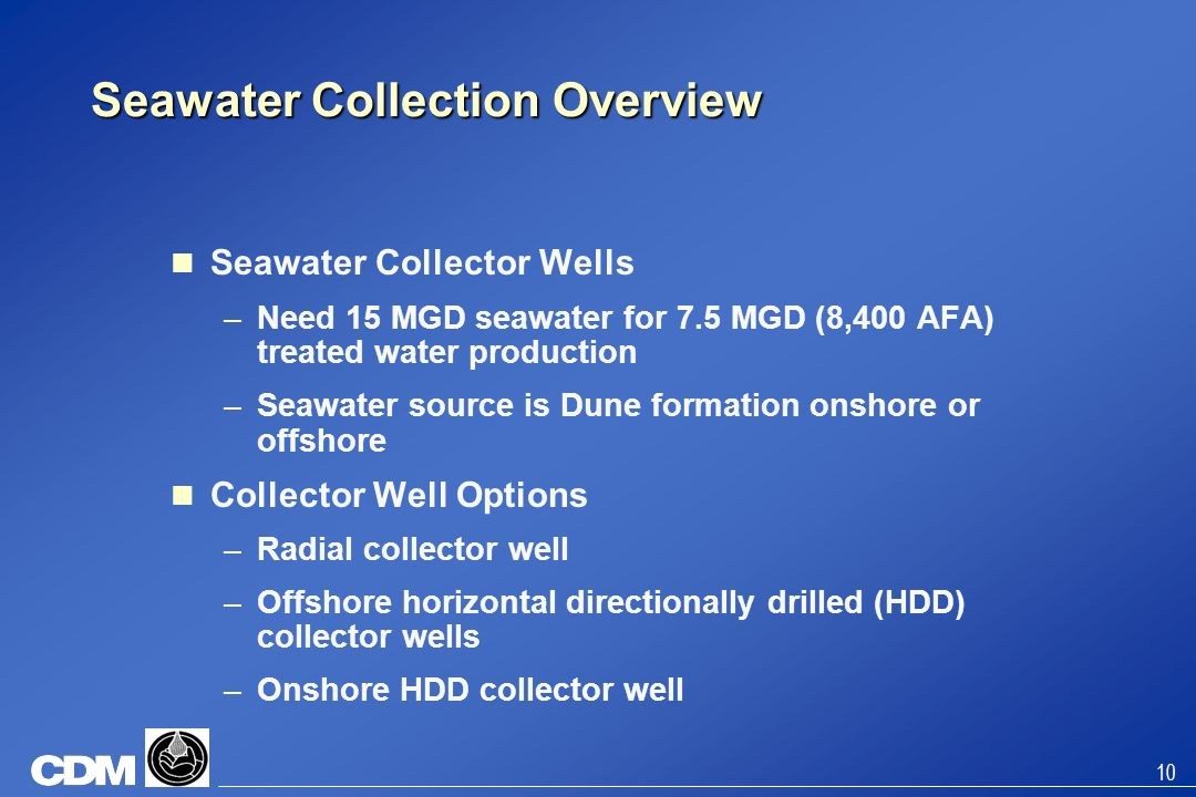 Seawater Collection Overview