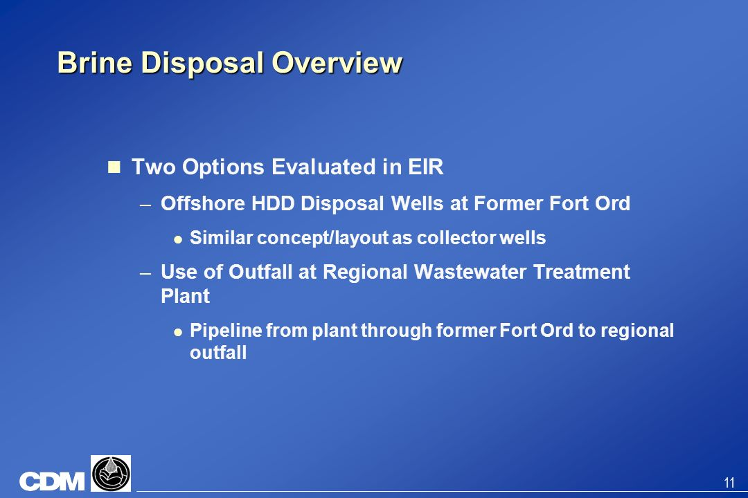 Brine Disposal Overview