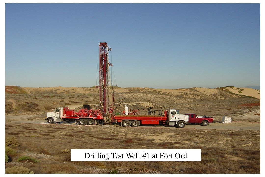 Drilling Test Well #1 at Fort Ord