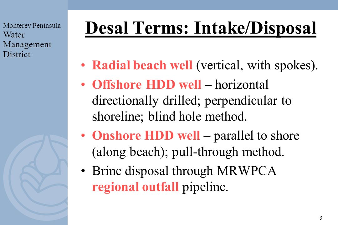 Desal Terms: Intake/Disposal