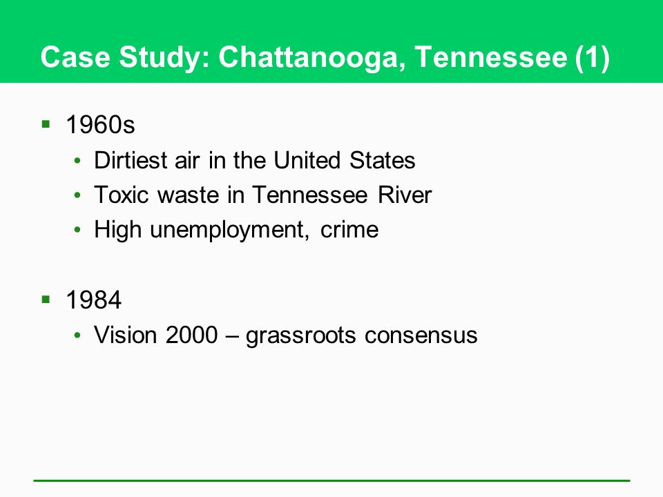 Case Study: Chattanooga, Tennessee (1)