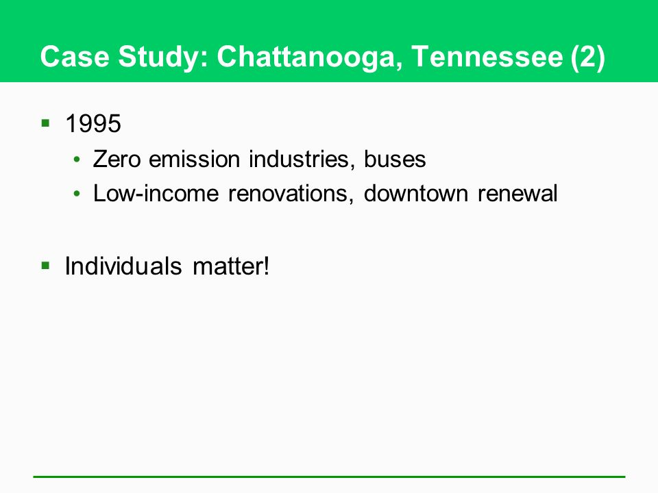 Case Study: Chattanooga, Tennessee (2)