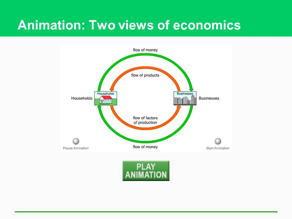Animation: Two views of economics
