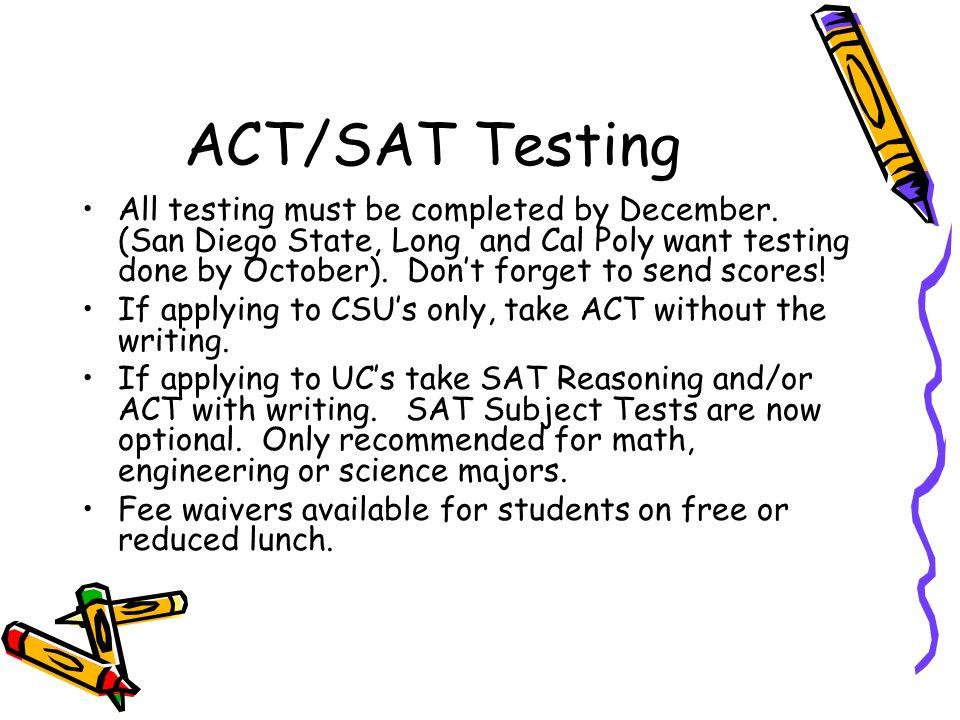 ACT/SAT Testing