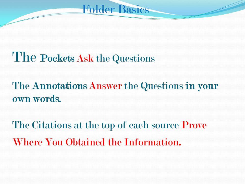 Folder Basics