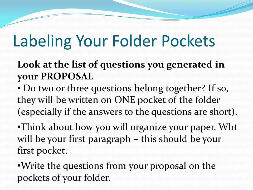 Labeling Your Folder Pockets
