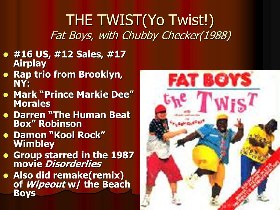 THE TWIST(Yo Twist!) Fat Boys, with Chubby Checker(1988)