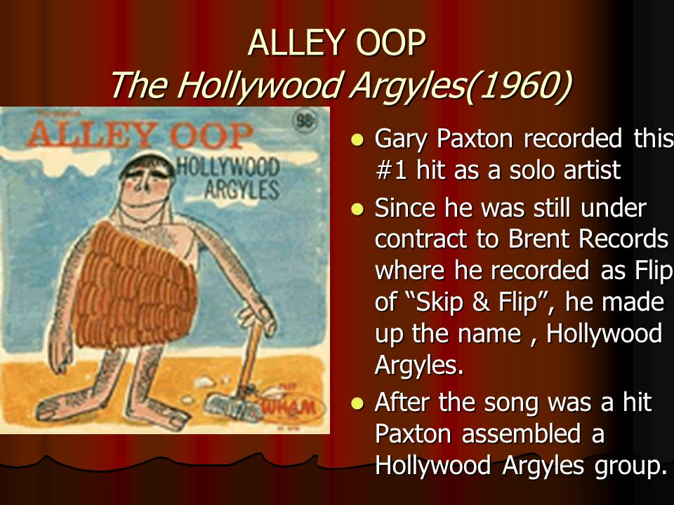ALLEY OOP The Hollywood Argyles(1960)