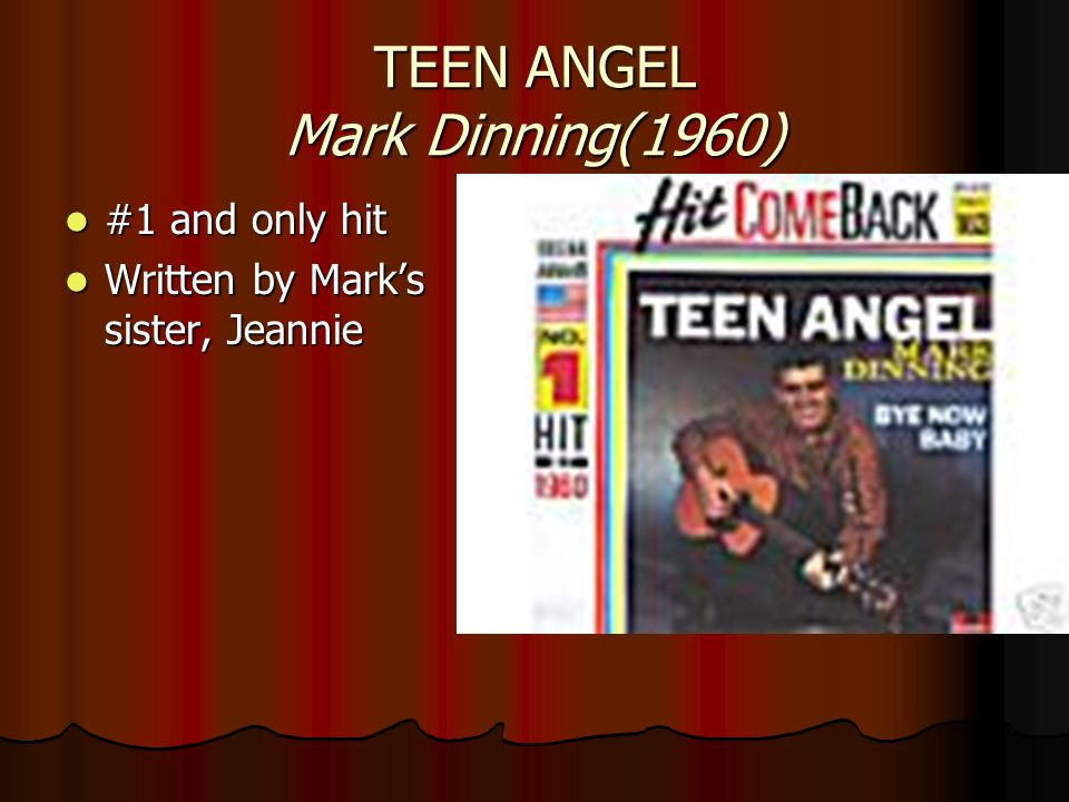 TEEN ANGEL Mark Dinning(1960)
